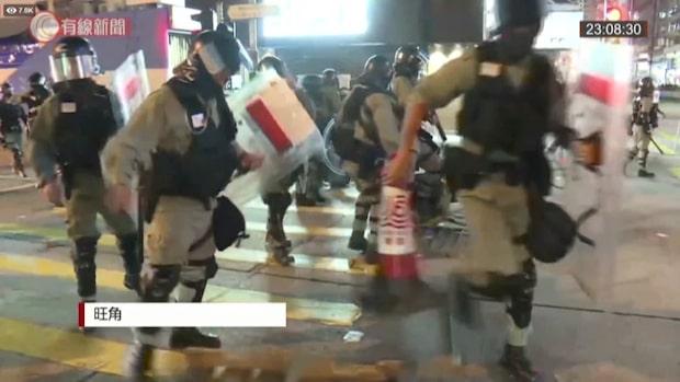 Demonstranter: Polisen använde riktiga kulor mot oss
