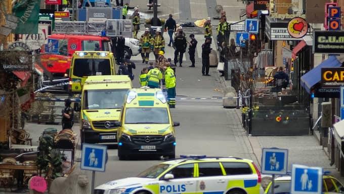 Drottninggatan efter attacken. Foto: Rob Schoenbaum / POLARIS/IBL POLARIS
