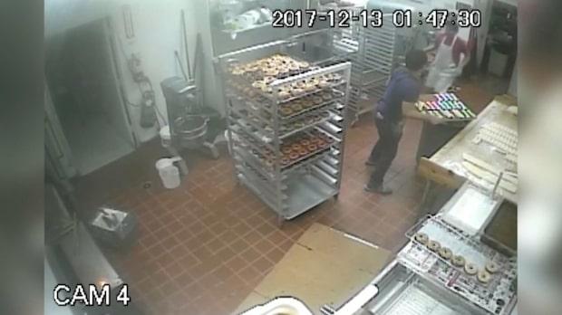 Rånare sköt bagare - missade huvudet med bara några centimeter