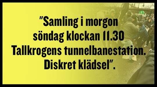 Nazisternas sms före attacken i Kärrtorp.
