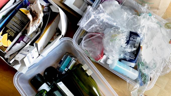 Slipp trista papperspåsar med återvinningsmaterial – och satsa på smart förvaring. Foto: / TT NYHETSBYRÅN