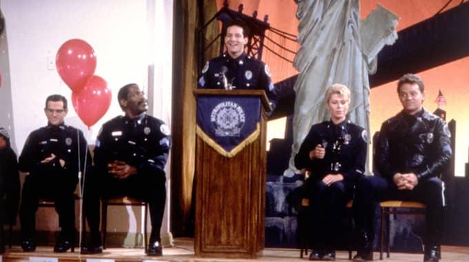 Han hann med att medverka i sju Polisskolan-filmer. Foto: Hasse Persson