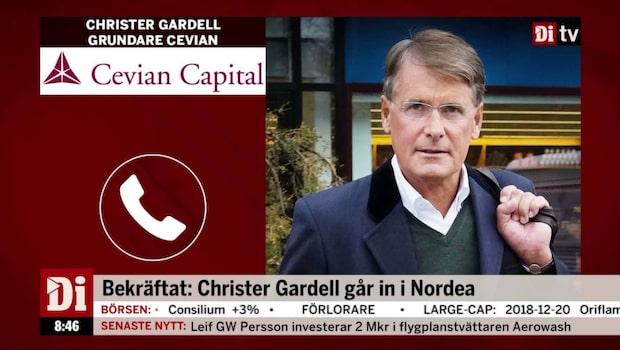 """Gardell om intåget i Nordea: """"Dags att effektivisera"""""""