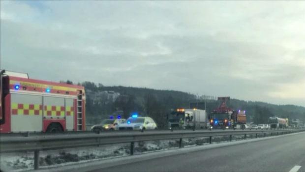 En skadad  i olycka vid vägarbete