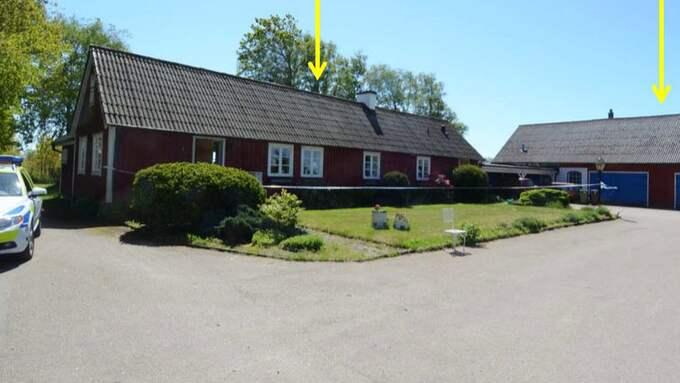 Mannen ska ha attackerat sin hustru på gården i Varbergs kommun. Foto: Polisen