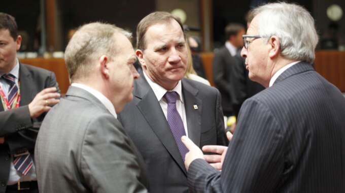 Statsminister Stefan Löfven under EU-mötet i Bryssel. Foto: Kristofer Sandberg