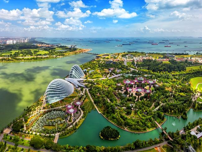 Singapore är ett utav de 32 länder som Silversea passerar.