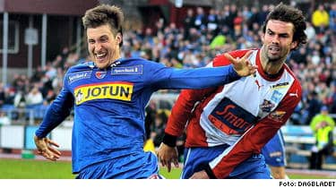 För två år sedan spelade Andreas Tegström i division två hemma i Småland. Nu leder han skytteligan i norska tippeligan.