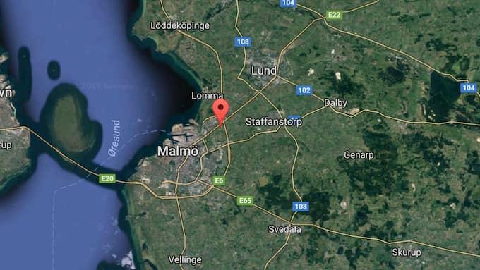 Olyckan skedde på E6 i höjd med BUrlöv utanför Malmö. Foto: Googlemaps