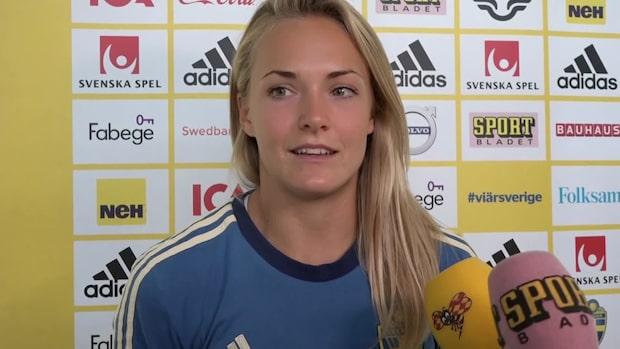 """Magdalena Eriksson om Kanadas bittra utspel: """"Nej vi står upp otroligt bra"""""""