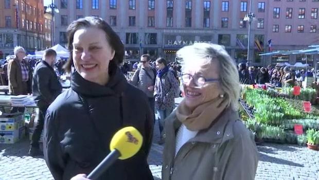 Så njuter svenskarna av vårvädret