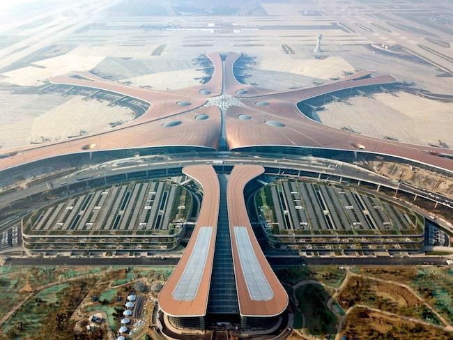 """""""Sjöstjärnan"""" är en av världens modernaste flygplatser."""