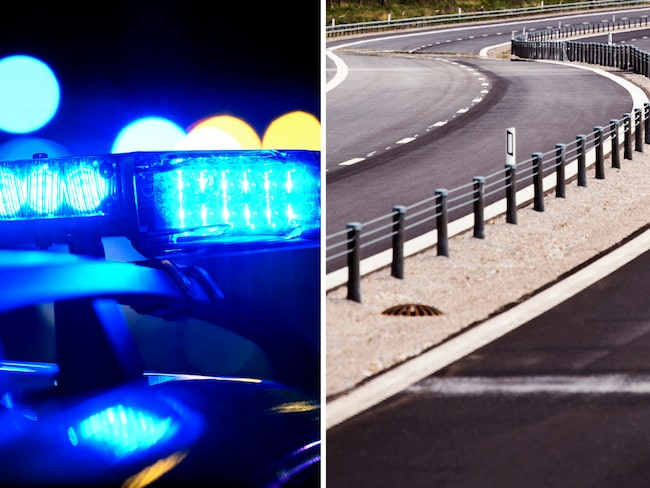 En ung person sprang ut mot ett utryckningsfordon i hög hastighet. Nu varnar polisen för den farliga leken.