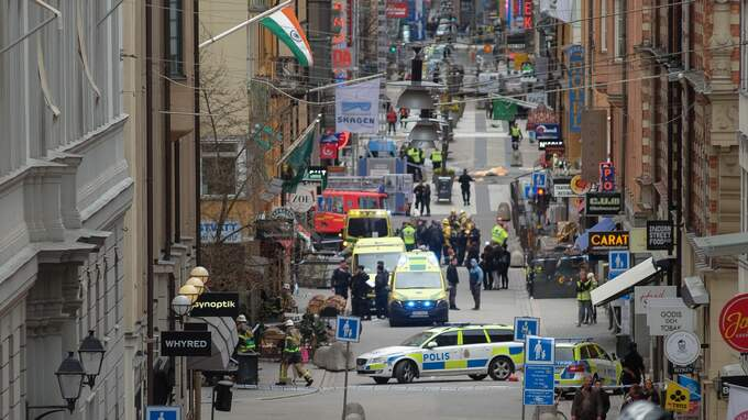 Attacken på Drottninggatan skedde den 7 april 2017. Foto: ROB SCHOENBAUM / POLARIS POLARIS IMAGES