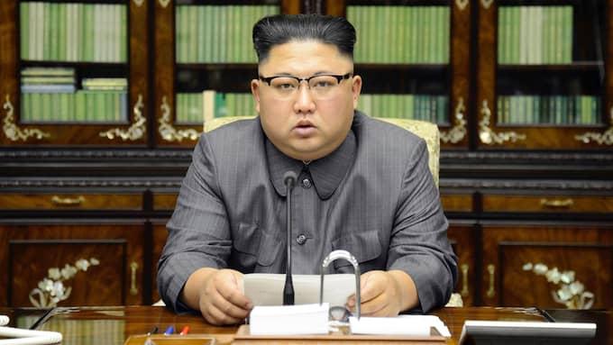 """Nytagna satellitbilder från ett skeppsvarv i Nordkorea tyder på att landet bygger sin första stridsklara ubåt som ska kunna avfyra ballistiska robotar – och det enligt en """"aggressiv tidplan"""", skriver nyhetsbyrån Reuters. Foto: / AP TT NYHETSBYRÅN"""