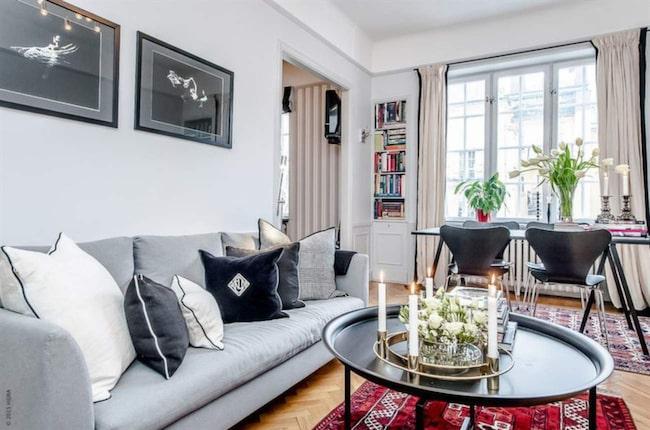 Här är Roy Fares lägenhet på Östermalm. Nu säljer han den.