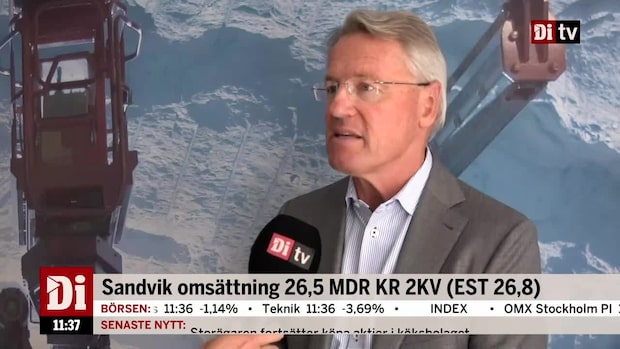 """Sandviks vd om kvartalet: """"Historiskt stark efterfrågan"""""""