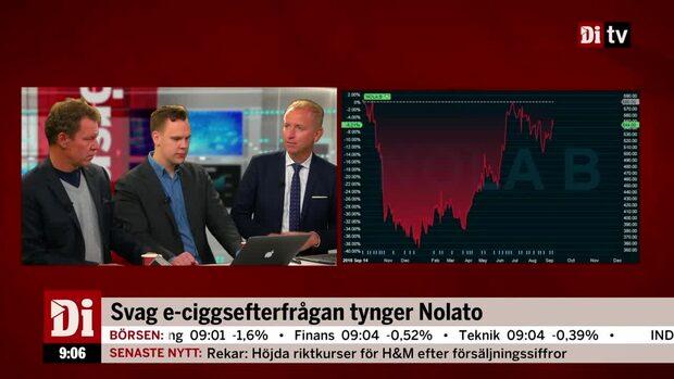 """Svag e-ciggsefterfrågan tynger Nolato: """"Naturlig avmattning"""""""