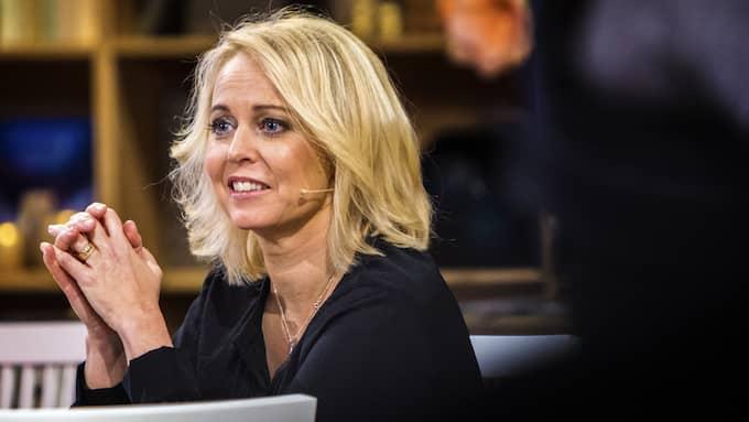 Annika Andersson är glad över att ha blivit prisad som årets kulturpristagare i Falkenberg. Foto: HENRIK JANSSON