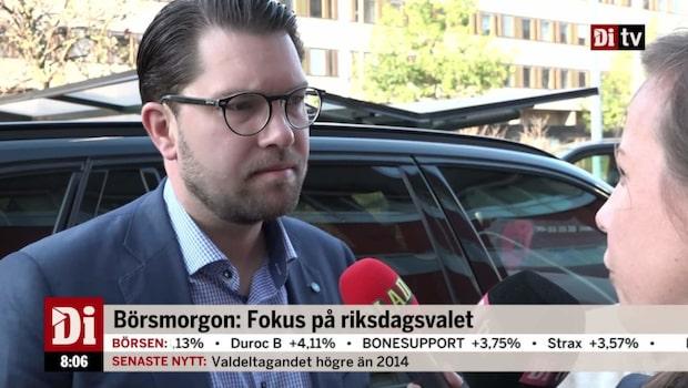 """Åkesson (SD): """"Ju förr Stefan Löfven avgår desto bättre"""""""