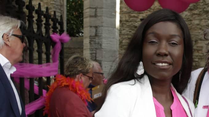 Victoria Kawesa är partiledare för Feministiskt Initiativ. Foto: Cornelia Nordström