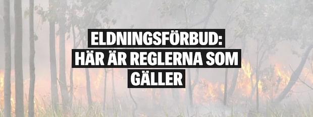 Eldningsförbud - det här gäller
