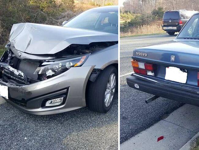 Man skadad i olycka pa volvo