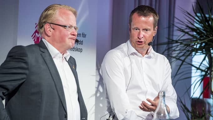 Försvarsminister Peter Hultqvist och inrikesminister Anders Ygeman (S). Foto: CHRISTIAN ÖRNBERG