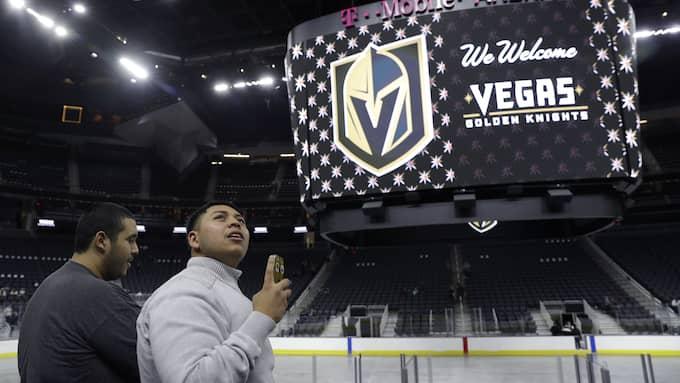 Las Vegas Golden Knights. Foto: JOHN LOCHER / AP TT NYHETSBYRÅN