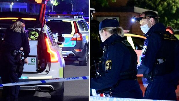 Ung man ihjälskjuten i bostadsområde i Helsingborg