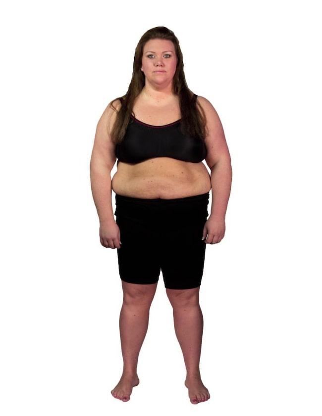 ... vid invägningen till Biggest Loser stannade vågen på 120,7 kilo.