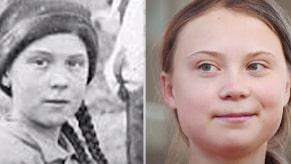121 år gamla bilden –är det Greta Thunbergs dubbelgångare?