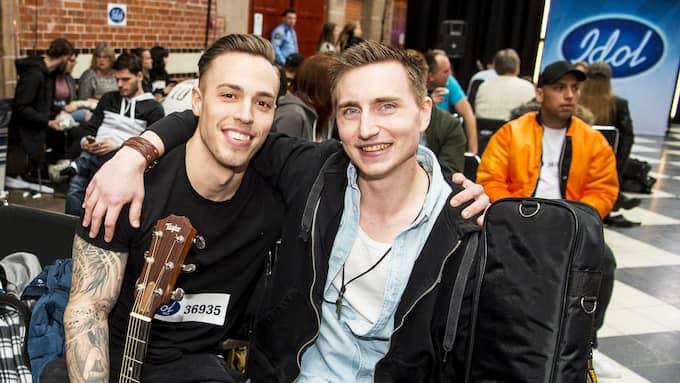 """Vännerna Marcus, 26 och Marcus, 28, ska båda spela varsin Kip Moore-låt för """"Idol""""-juryn. Båda två är från Helsingborg. Foto: CHRISTIAN ÖRNBERG"""