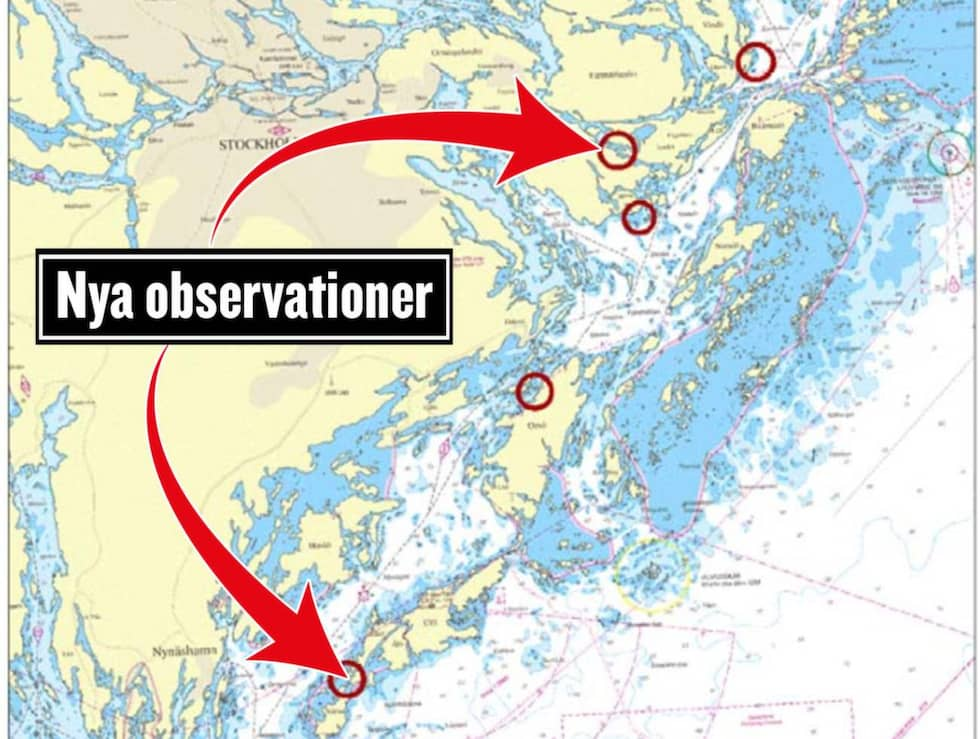 Anders Grenstad berättade på presskonferensen vid 18-tiden på tisdagskvällen att Försvarsmakten fått in två nya observationer från almänheten. Foto: Försvarsmakten
