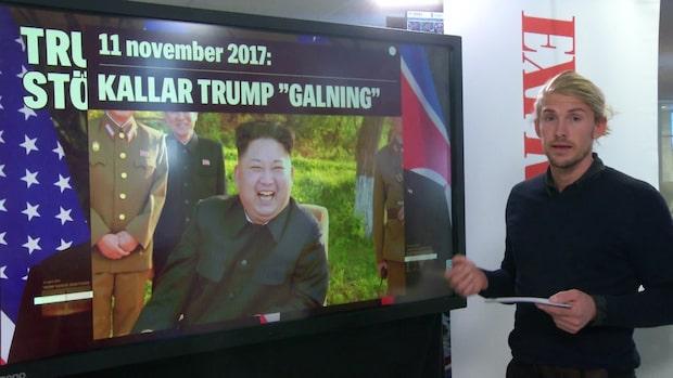 Bråk och kärleksförklaringar – här är relationen mellan Donald Trump och Kim Jong-Un