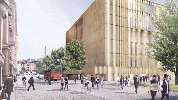 Det framtida Nobelmuseet på Blasieholmen i Stockholm.