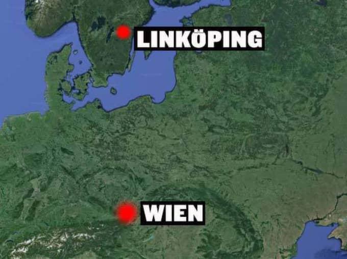 Flickan är hemmahörande i Linköping och greps i Wien.
