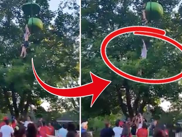 Skräcken på nöjesparken: 14-åringen faller ur åkattraktionen