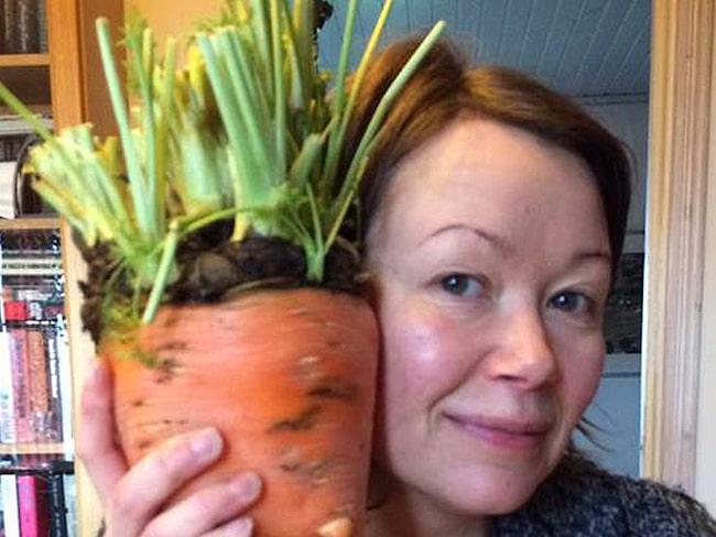 När Anna Hullmann gick till sitt grönsaksland fick hon en chock. Ur jorden stack den största gröntova hon någonsin sett, upp. Klicka vidare och se...