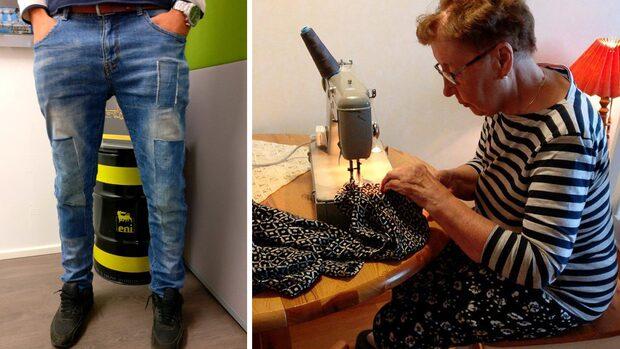 Raul, 26, bad sin mormor laga jeansen – nu skrattar tusentals åt resultatet