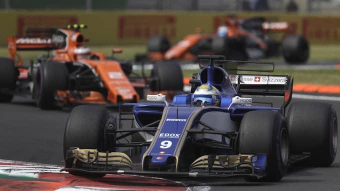 Ericsson under Mexikos Grand Prix för två veckor sedan. Foto: REBECCA BLACKWELL / AP TT NYHETSBYRÅN