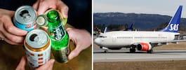 Luftfartverkspersonal i fylleskandal på flyg