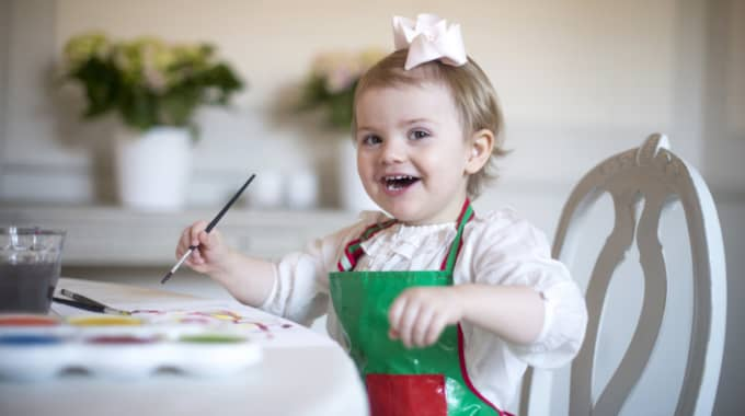 Och här är bilden från prinsessan Estelles tvåårsdag. Foto: Kate Gabor/Kungahuset.Se