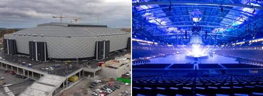 PLATS FÖR 65 000. Som navet i den nya stadsdelen Arenastaden är Friends Arena i Solna det största byggprojektet någonsin i Sverige. I morgon invigs arenan, som kostat 2,8 miljarder att bygga. I området kring arenan byggs 3 000 nya bostäder. Foto: Olle Sporrong, Stefan Söderström