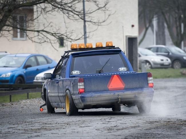 En A-traktor. Bilen på bilden har inget med händelsen att göra.