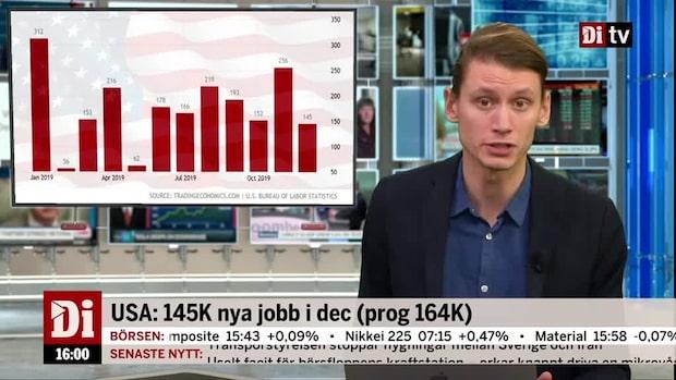 Kvällskoll: Svagare amerikansk sysselsättning stoppar inte börsen