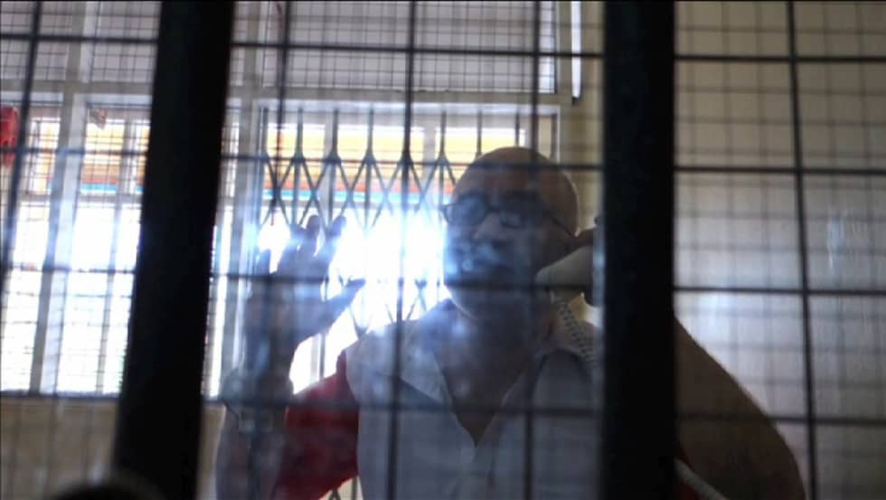 Ferry Linnbark i fängelset. Fotot är taget vid ett tidigare tillfälle.