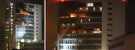 Storbrand rasar på hotell i Dublin
