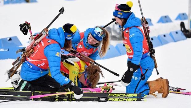 Sverige tappade VM-guldet i damernas stafett