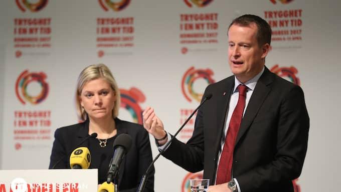 Inrikesminister Anders Ygeman och finansminister Magdalena Andersson kan konsten att ge löften som ska infrias när deras mandatperiod har löpt ut. Foto: ADAM IHSE/TT